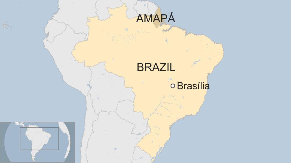 Map of Amapa in Brazil