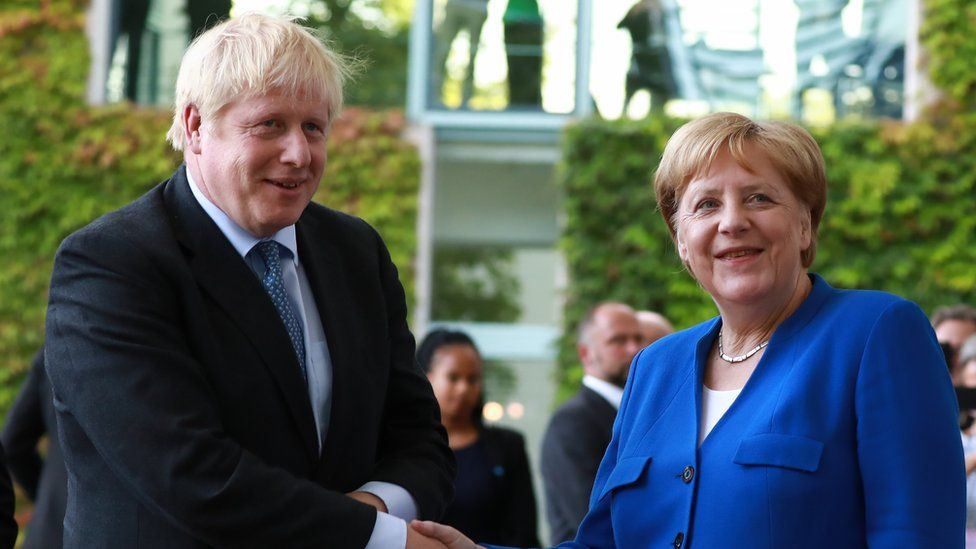 Brexit: PM meets Angela Merkel with call to scrap backstop