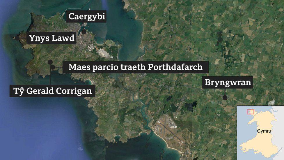 Map ardal y llofruddiaeth
