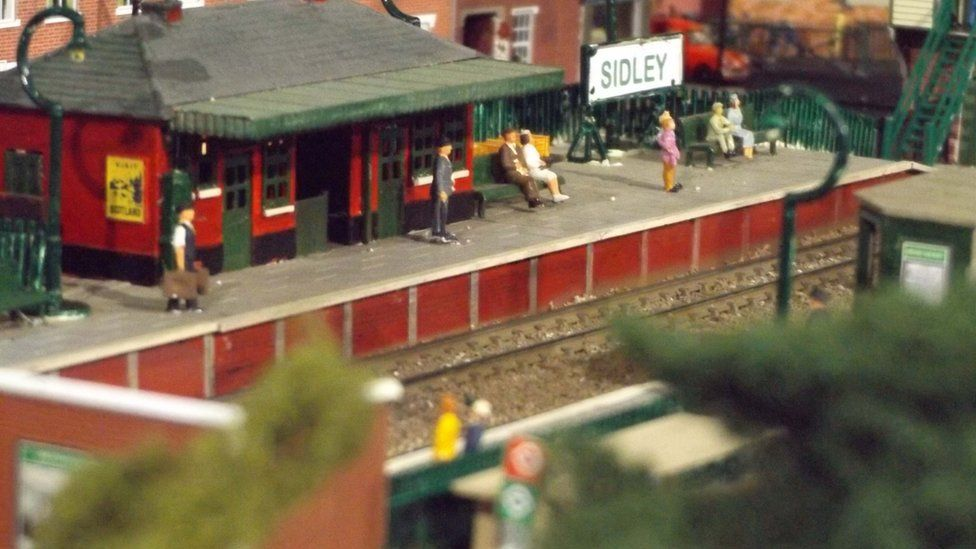 Model of a railway station