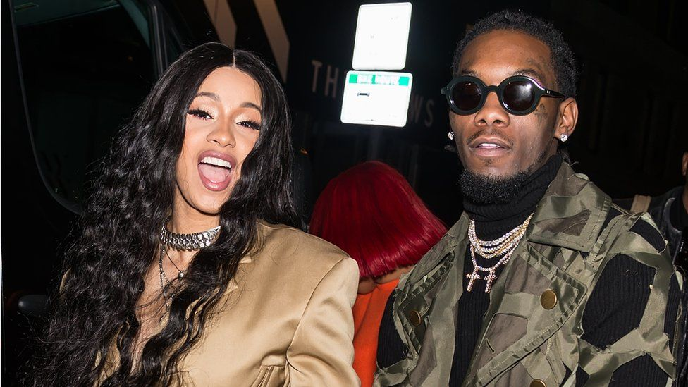 Rappers Cardi B and Offset