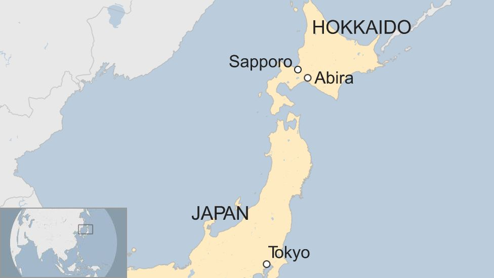 Hokkaido World Map.Japan Hit By Deadly Earthquake And Mudslides Bbc News