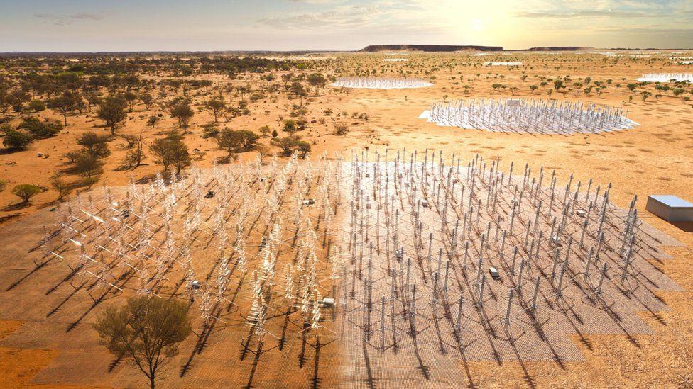 Artwork of Western Australia: It will take seven or eight years to fully build the SKA