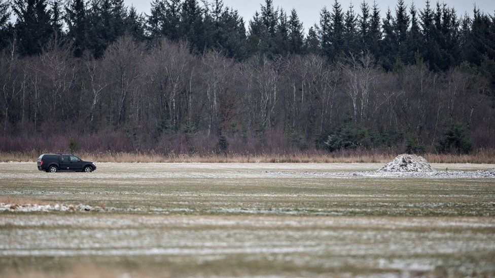 General view of the location where a a wreck of a World War II aircraft was found, near Birkelse by Aabybro in Northern Jutland, Denmark March 7, 2017.