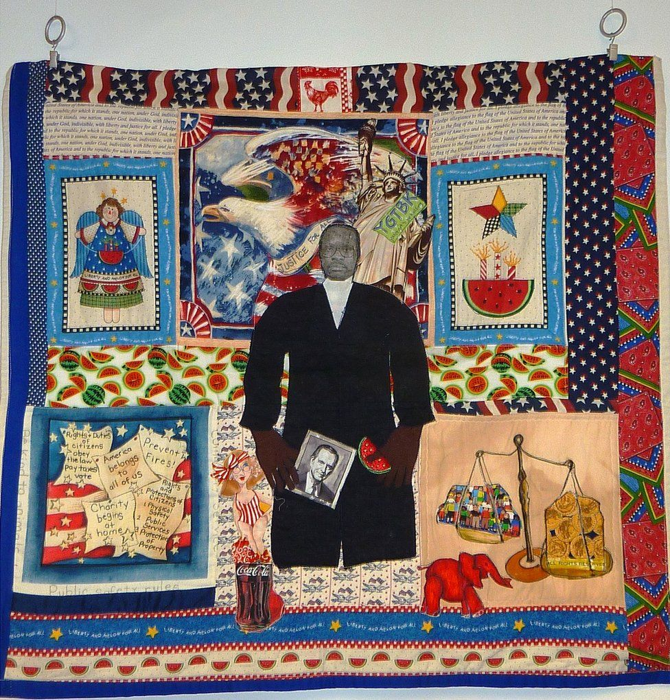 Here come the judge, a quilt by Nedra Bonds