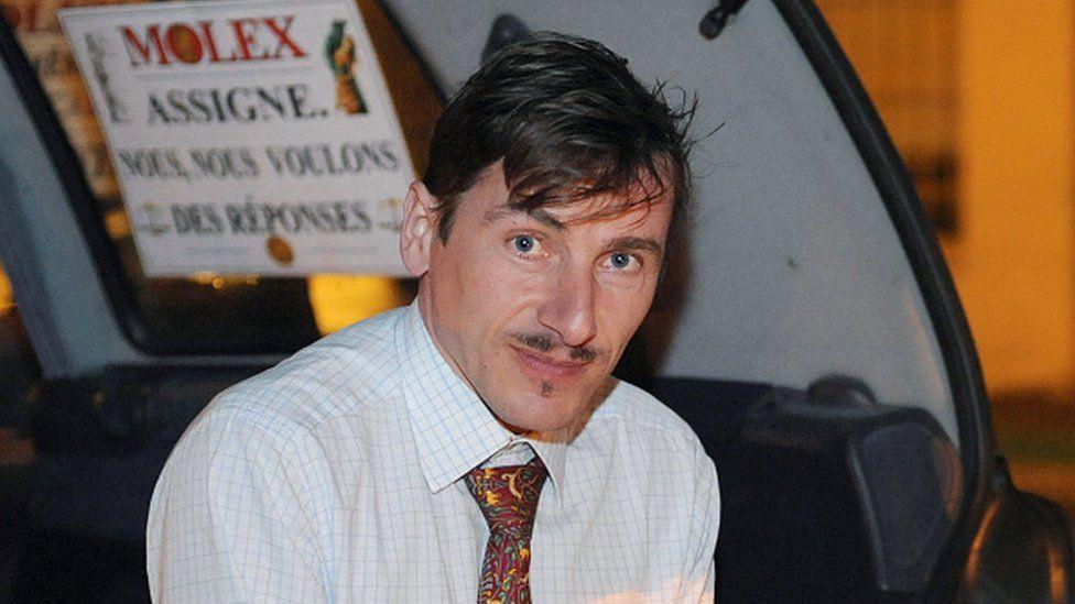Rémy Daillet-Wiedemann pictured during a protest in 2009