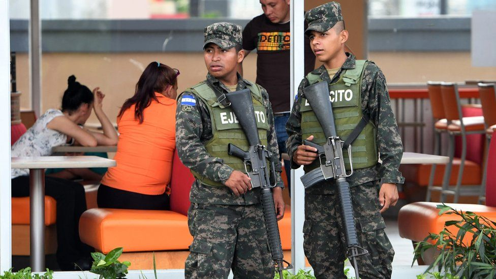 Honduran soldiers are deployed in Tegucigalpa