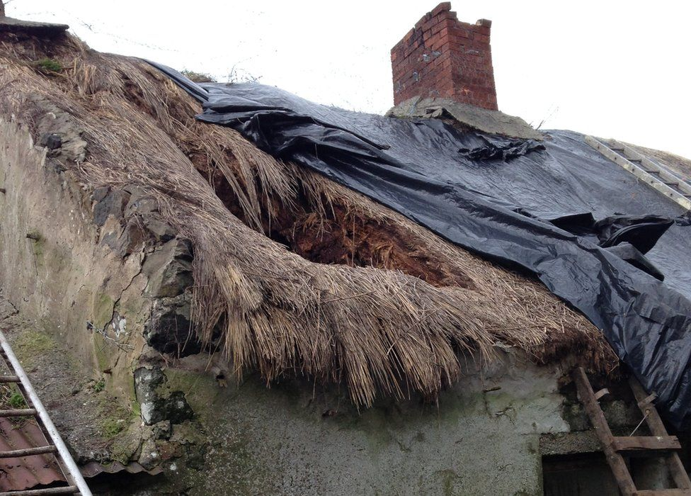 A storm blew part of the roof off Edward Quigley's bedroom in 2014