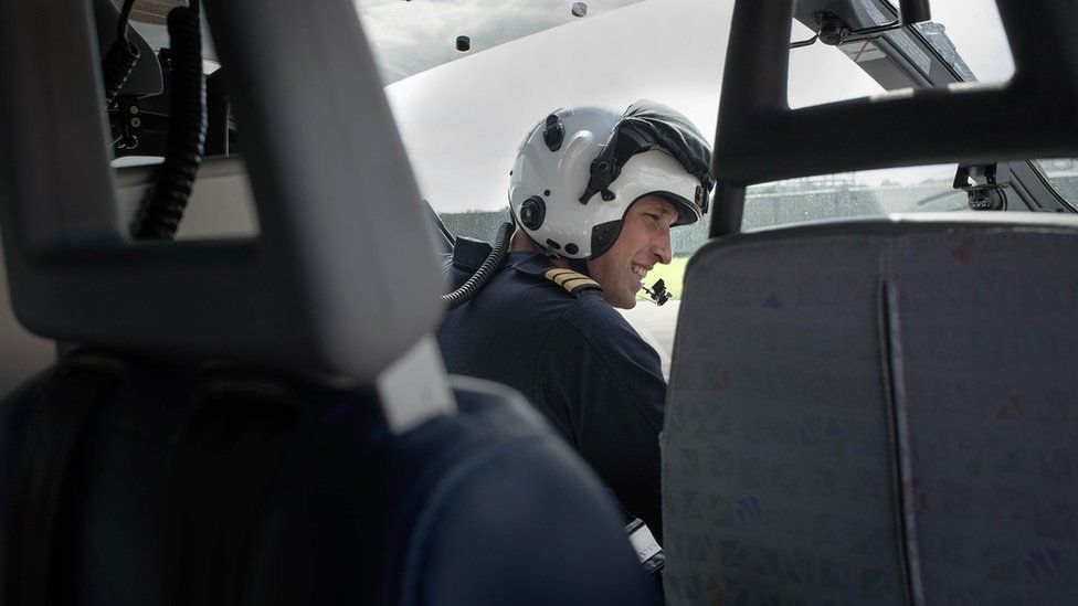 Prince William piloting an air ambulance