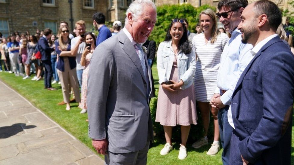 Prince Charles at Somerville College