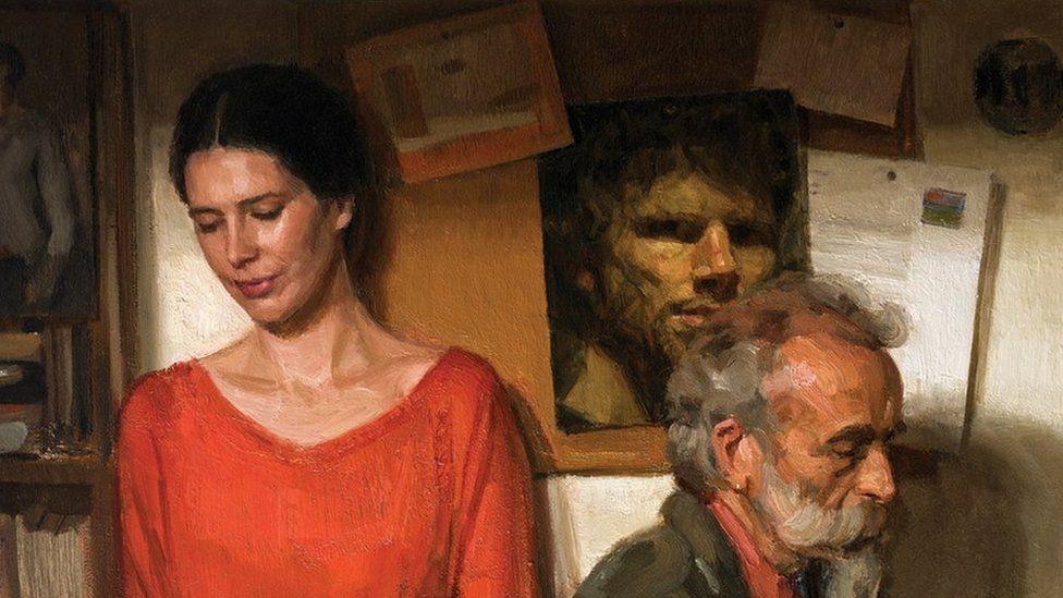 Portrait by Ewan McClure entitled 'Counterpoints'