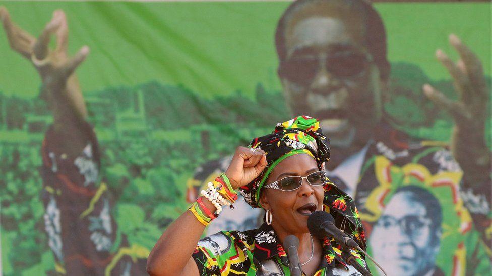 Grace Mugabe, wife of President Robert Mugabe, addresses a rally in Gweru, Zimbabwe, September 1, 2017.
