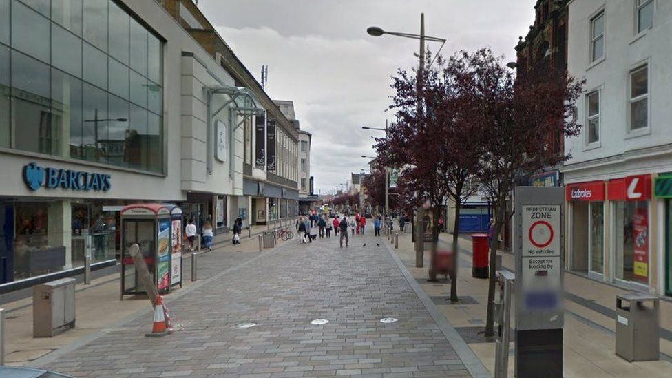 Google streetview of Middlesbrough shopping area