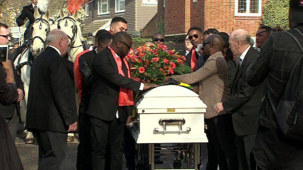 Jaden's coffin