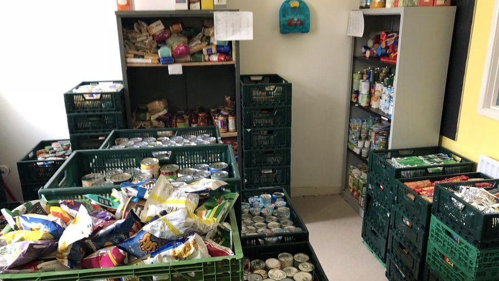 Food at a food bank