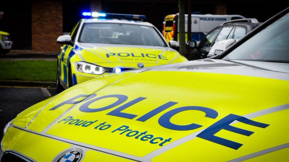 Library image of two Northumbria Police vehicles