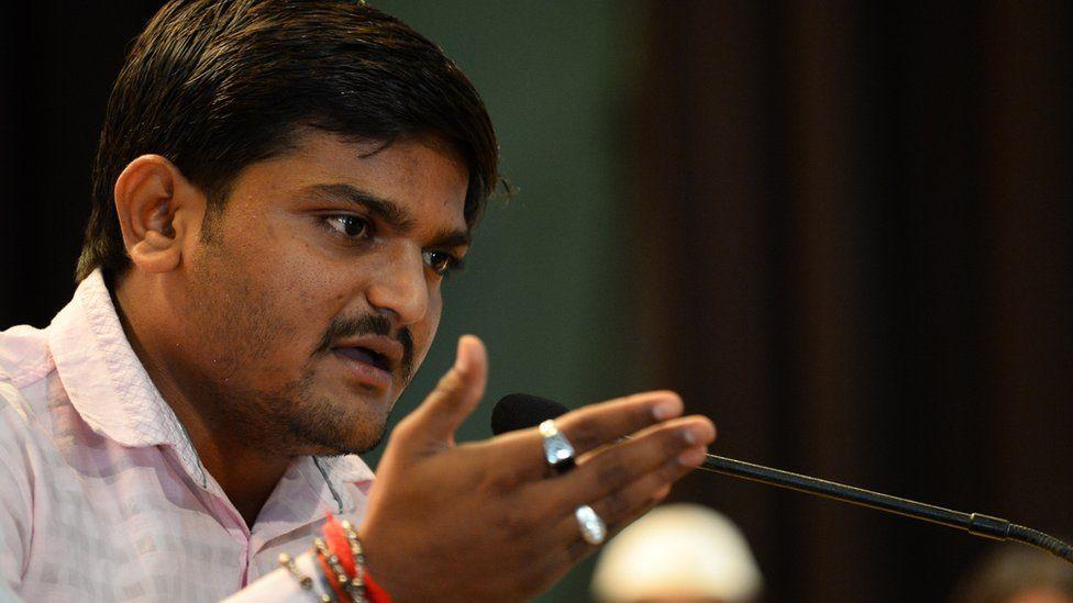 Hardik Patel addresses a press conference in Delhi on September 30, 2015