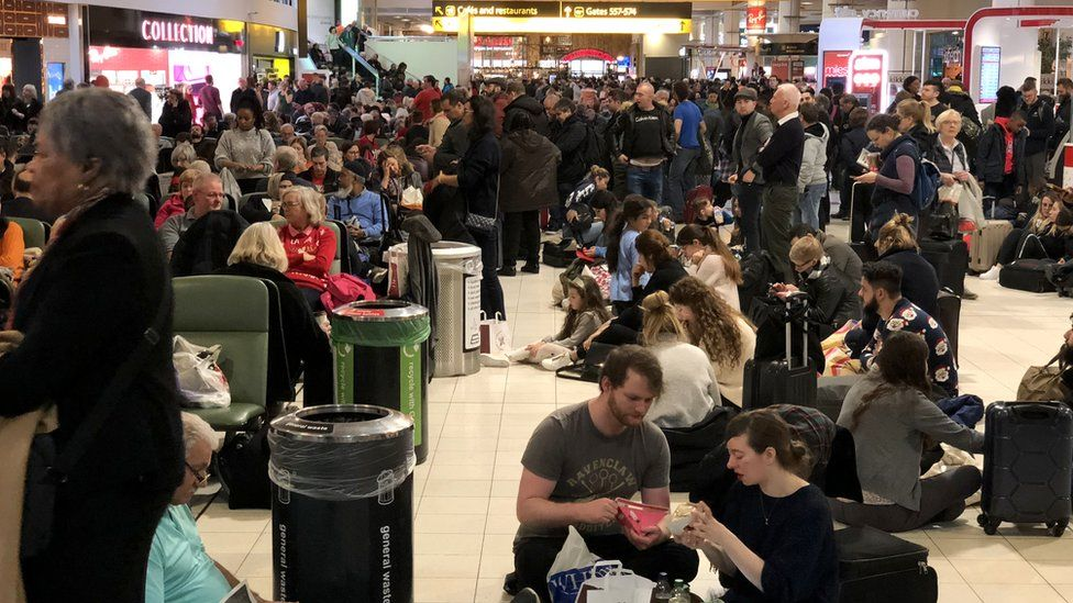 Passengers at Gatwick airport disrupted by drone incidents at