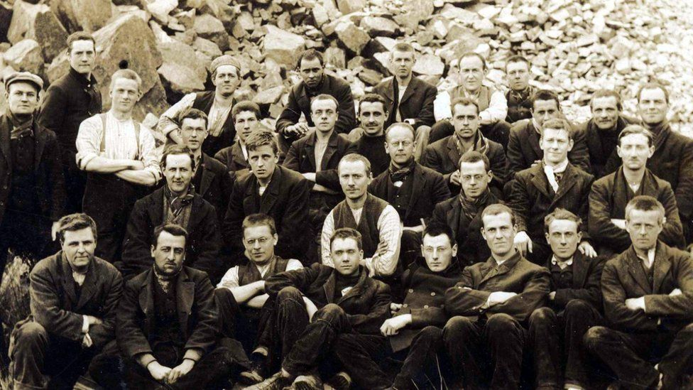 Some of the Richmond Sixteen at a labour camp