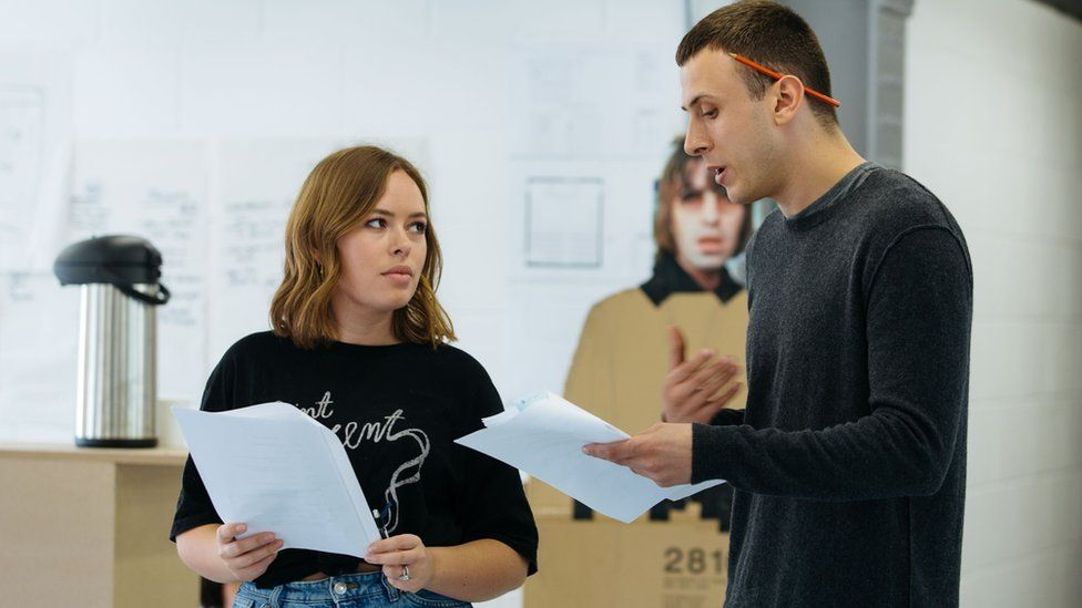 Tanya Burr in rehearsals