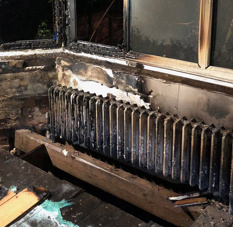 burnt out radiator