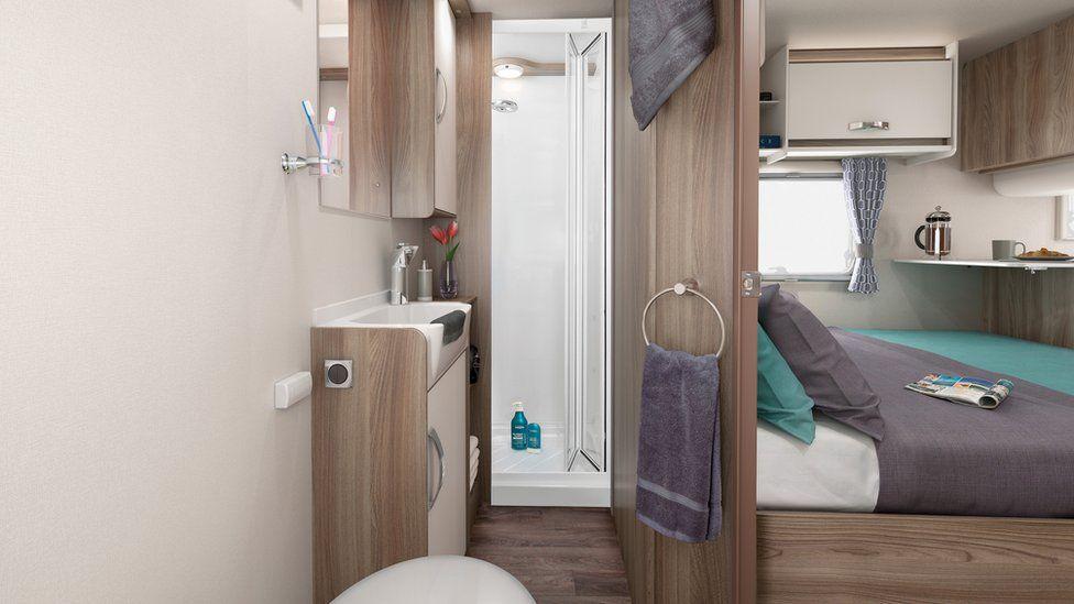 Bathroom in Swift Sprite caravan