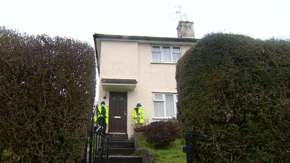 Police at house in Shelley Way, Plymouth