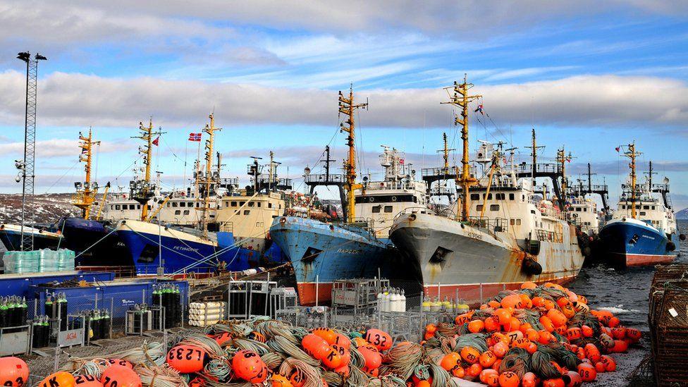 Russian fishing ships