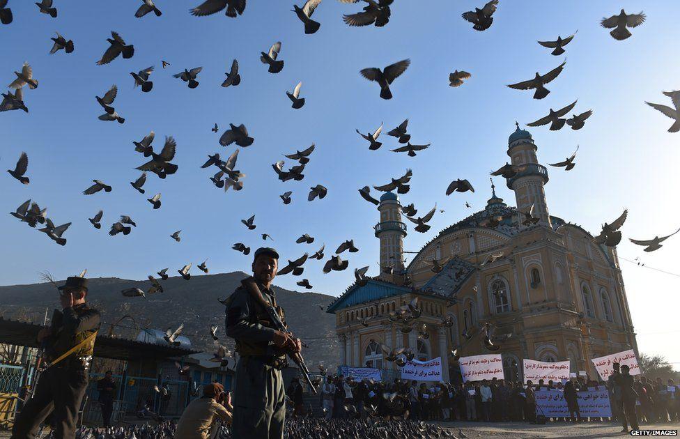 The Shah-e Du Shamshira shrine one week after the attack on Farkhunda
