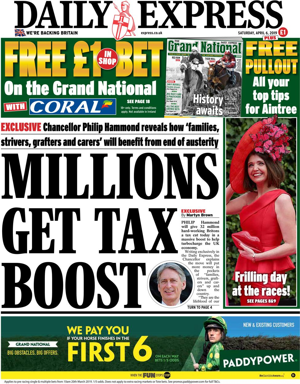 Daily Express front page, 6/4/19