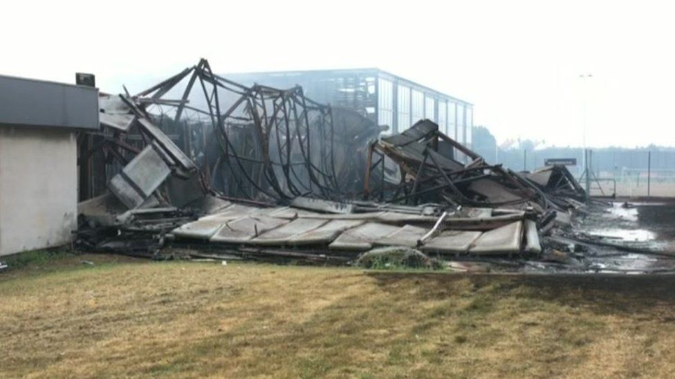 The aftermath of the fire