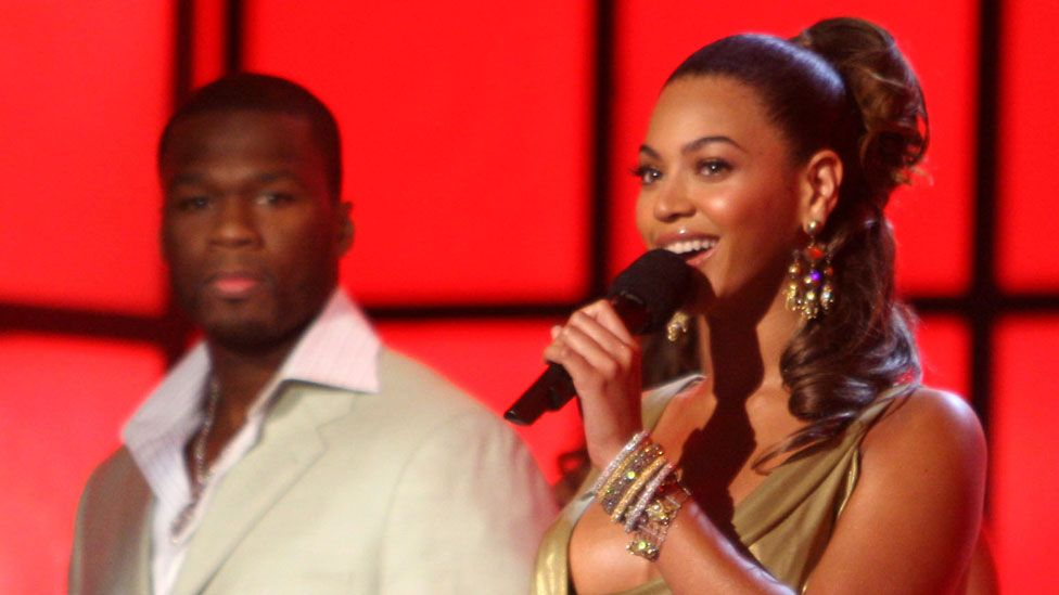 Beyonce with 50 Cent