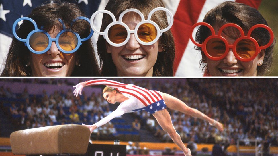 Scenes of the Los Angeles Olympics