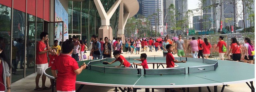 Free outdoor games on Singapore's 50th anniversary