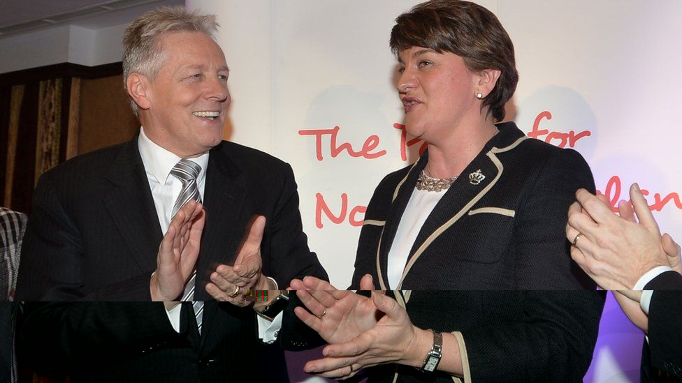 Peter Robinson and Arlene Foster