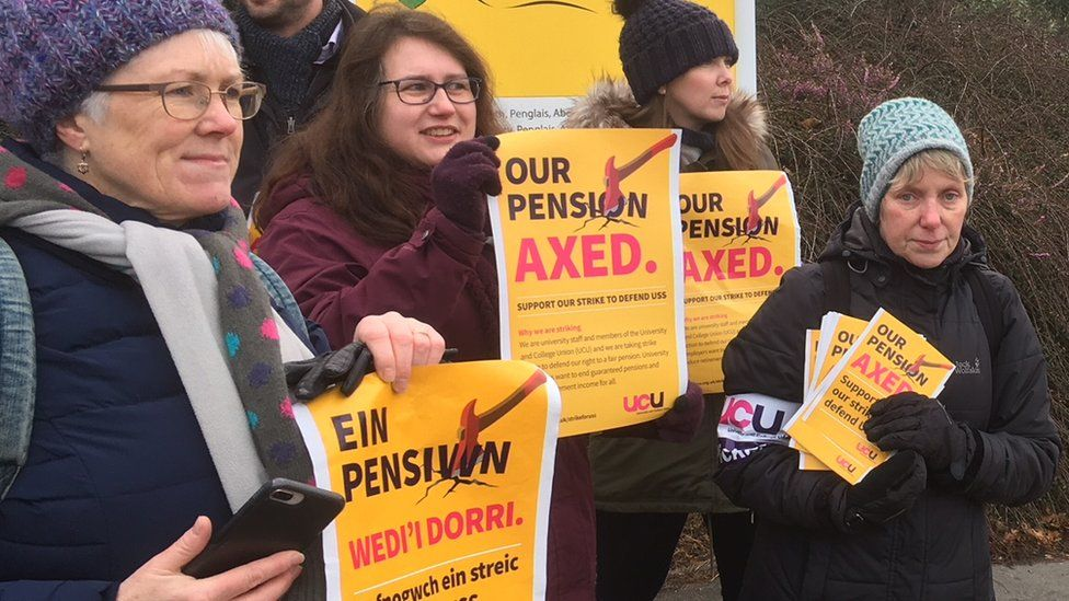 Strike action at Aberystwyth university