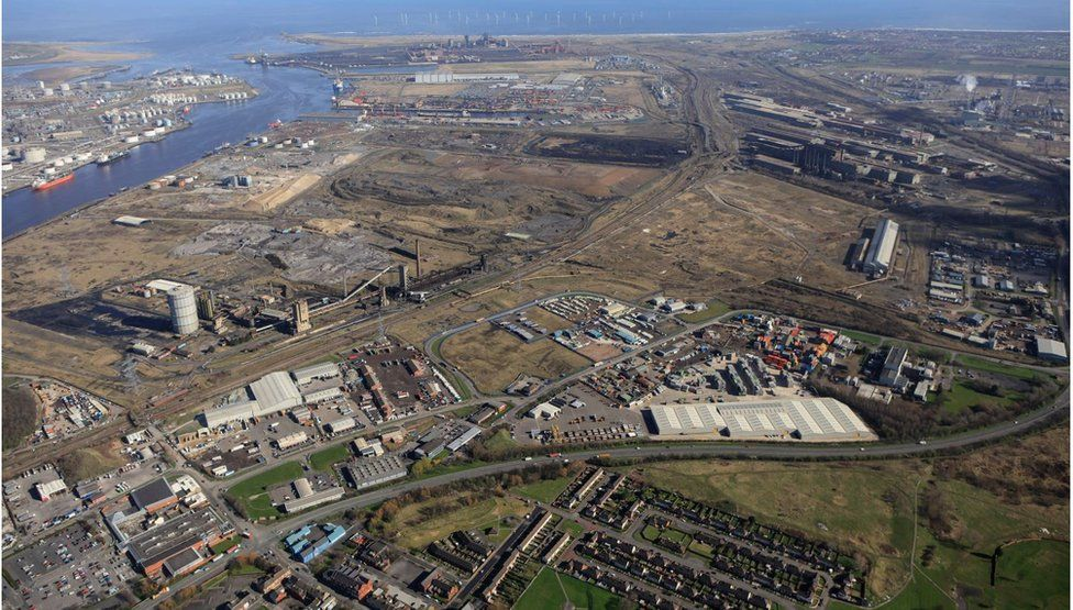 Aerial shot of the SSI site