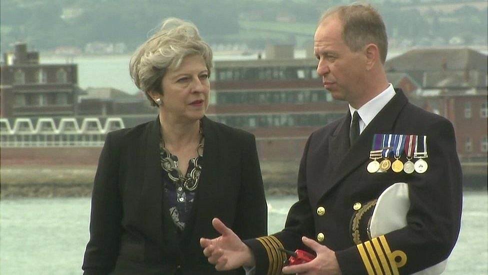 Prime Minister Theresa May met Captain Jerry Kyd