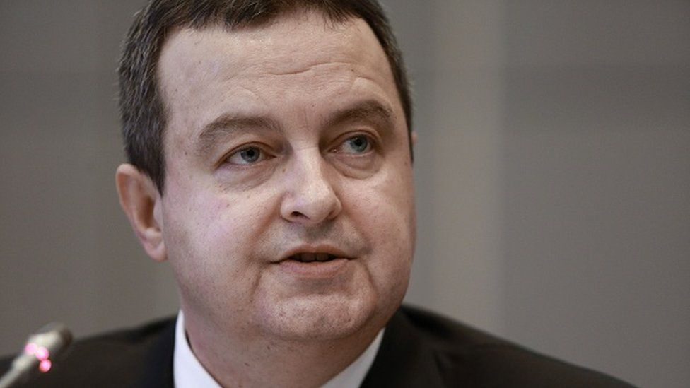 Serbian Acting Prime Minister Ivica Dacic
