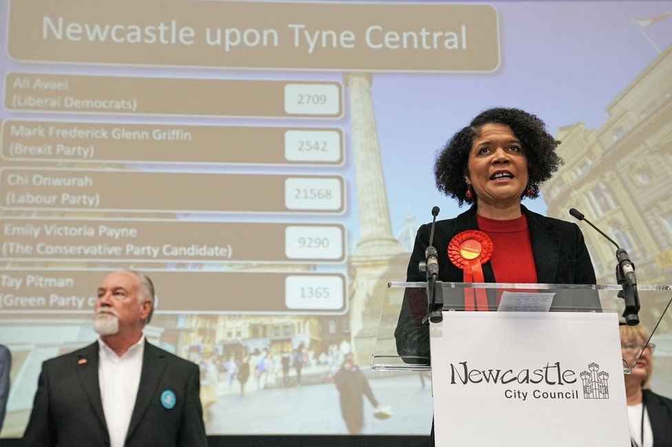 Labour's Chi Onwurah gives a speech