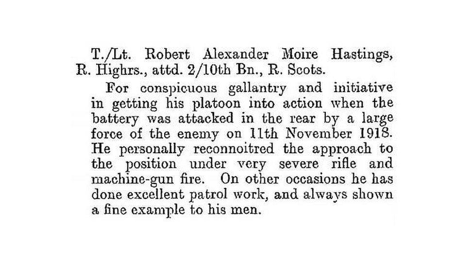 T/Lt Hastins citation