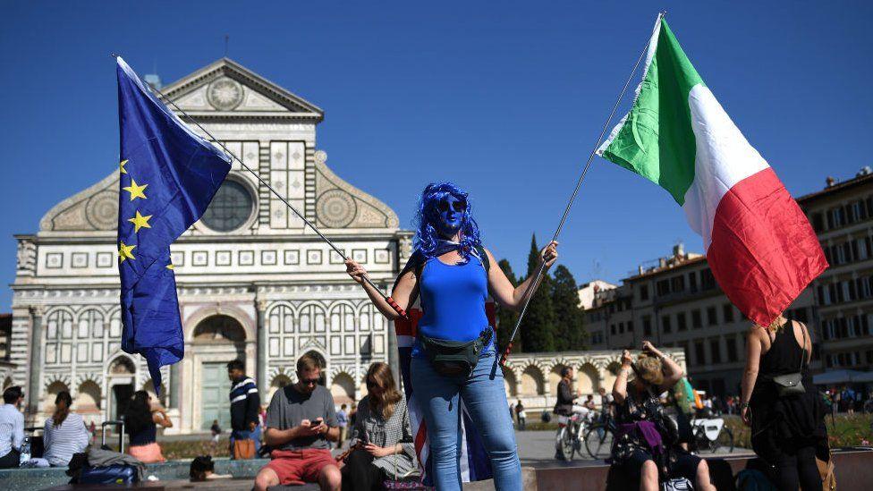 A pro-EU Italian in Florence, September 2017