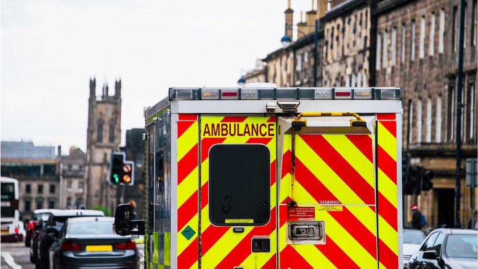 Ambulance in Edinburgh