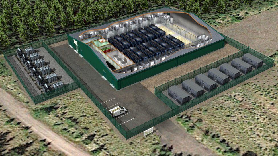 Battery storage site