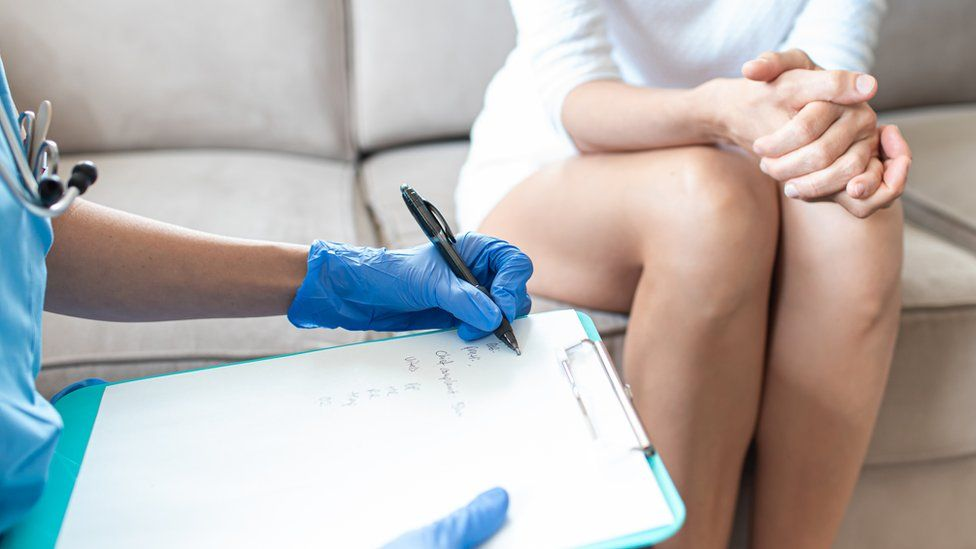 Woman consenting to a procedure