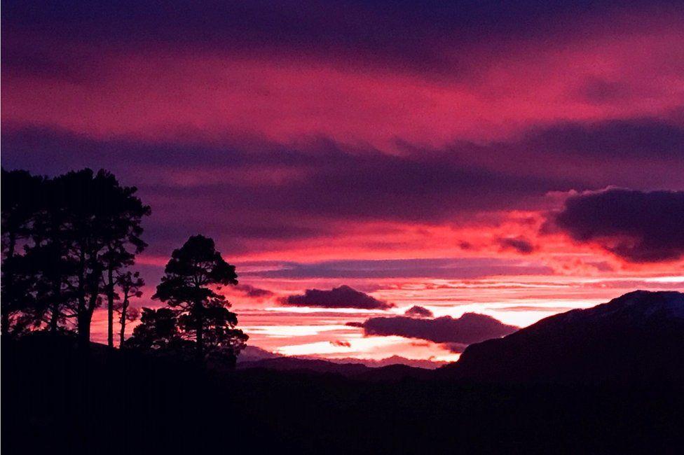 Sunset over Creag Dubh