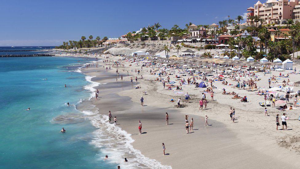 Una playa en Tenerife