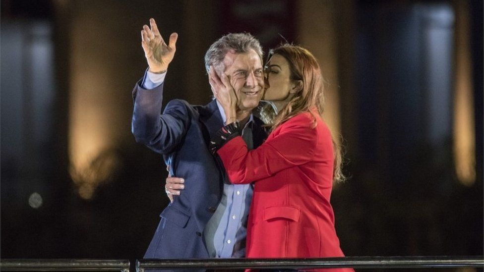 Macri and wife