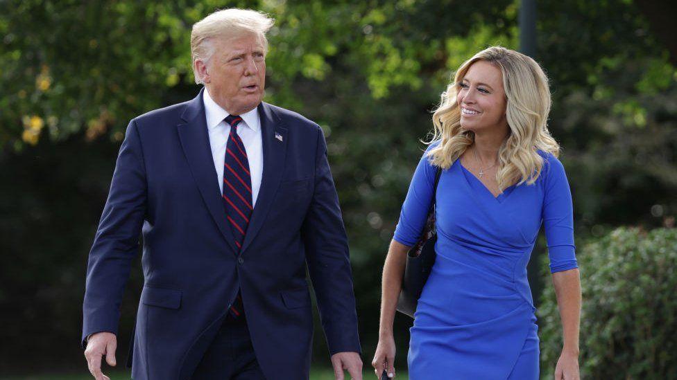Kayleigh McEnany and Donald Trump