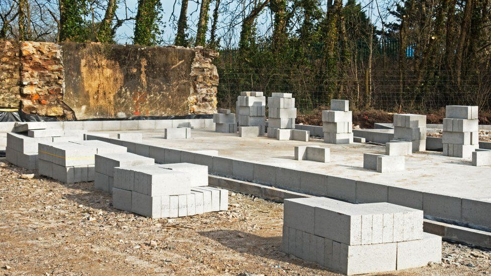 Foundations for self-build house